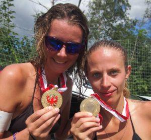 Ria Diamanti & Kristin Kasperski - Sieg bei den Tiroler Landesmeisterschaften Beachvolleyball