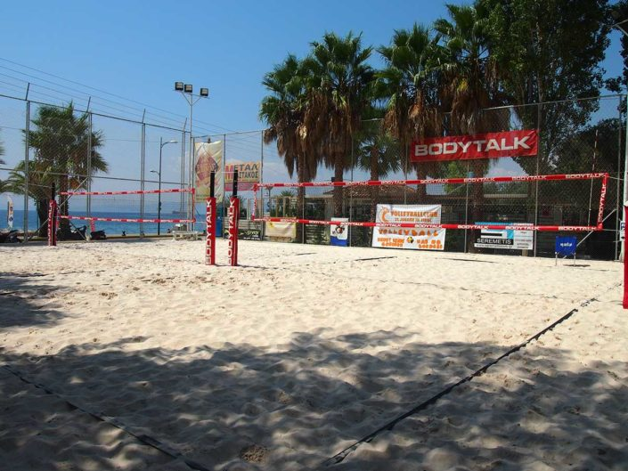 Kalamata Beachvolley Camp 2016 - Court direkt am Strand