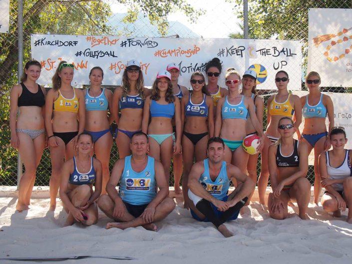 Kalamata Beachvolley Camp 2016 - VC St. Johann Frauen & griechische Trainer
