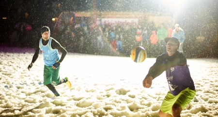 Snowvolleyball VC St. Johann Kröll Theodorakopoulos
