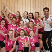 We did it - Siegesfreude bei den Landesmeisterinnen vom VC St. Johann