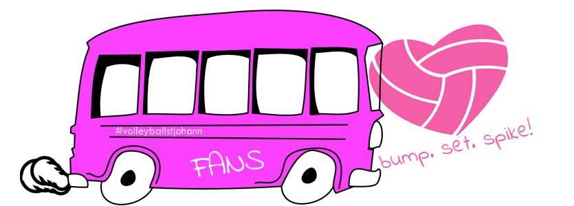 Fan-Bus mit Herz für Volleyball St. Johann