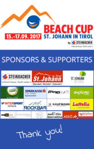 Sponsors ABV Beachtour 2017 - Beachvolleyball St. Johann in Tirol