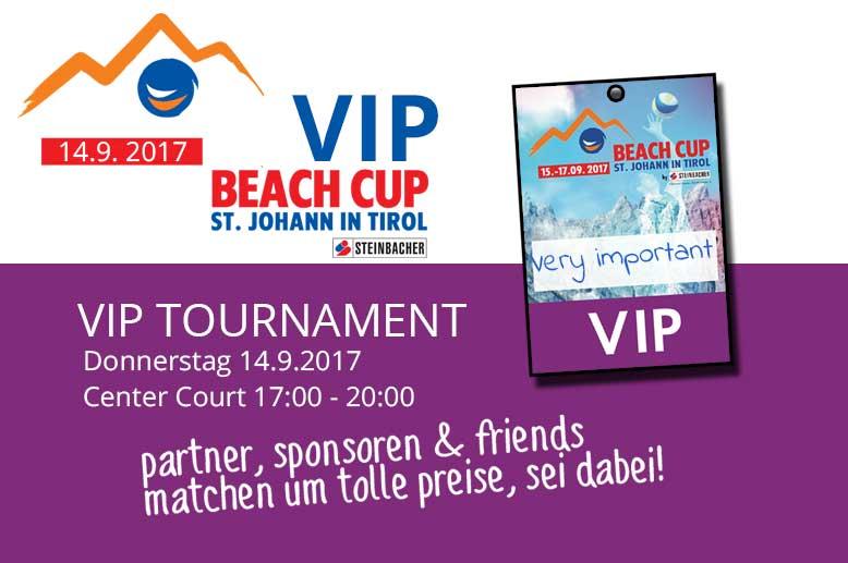VIP Beach Cup im Rahmen des Beach Cup St. Johann by Steinbacher